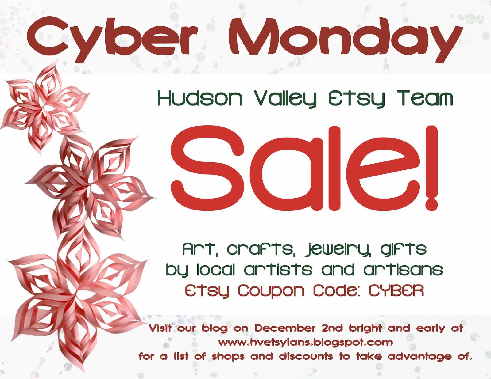 Cyber Monday Hudson Valley Etsy